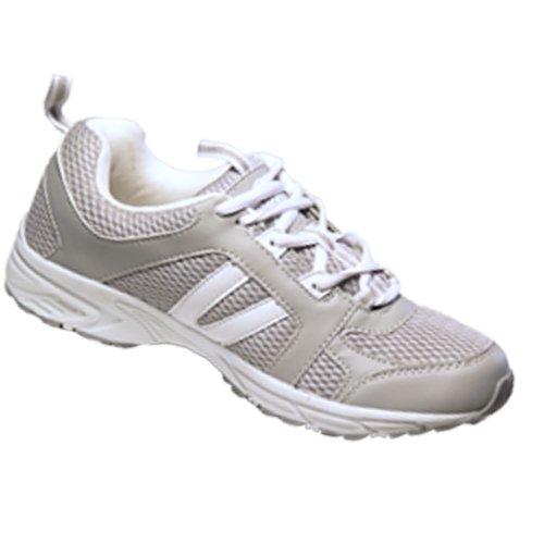 Dr Zen Jordan Women's Comfort Therapeutic Extra Depth Shoe: Grey 12.0 X-Wide (4E-6E) Lace