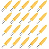 Maosifang 30 Pieces Stainless Steel Corn Holders Corn on the Cob Skewers Jumbo Corn Forks for Home Cooking and BBQ,8.7cm