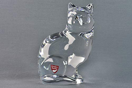 Collectible Ceramic Teddy (Orrefors Crystal Seated Cat Figure Paperweight)