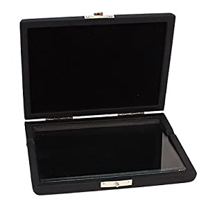 DN Black Clarinet /Saxophone Reed Case For 6 Reeds Internal Glass Pane