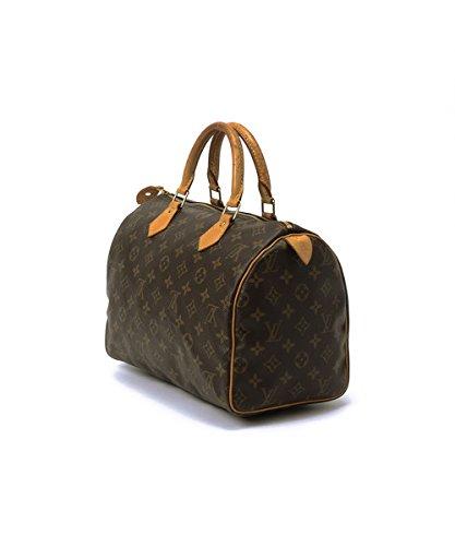 Authentic Women's Vintage Louis Vuitton Speedy 30 Brown Monogram Travel Bag by Louis Vuitton (Image #3)