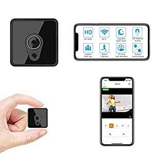 Flashandfocus.com 41szhzcRx5L._SS300_ Hidden Camera with Audio Live Feed WiFi, Mini Spy Camera with Audio, Jayol HD 4K Wireless Hidden Live Stream, Night…