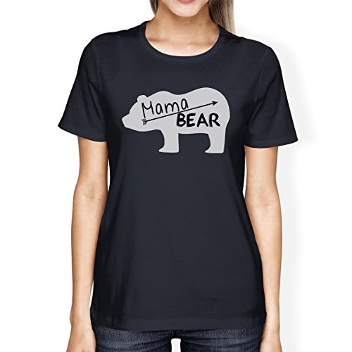 para One Mama manga mujer Navy de 365 Bear Camiseta Size corta Printing aqOq1XR