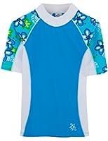 Tuga Girls UPF 50+ Seaside Short Sleeve Rash Guard (UV Sun Protective)