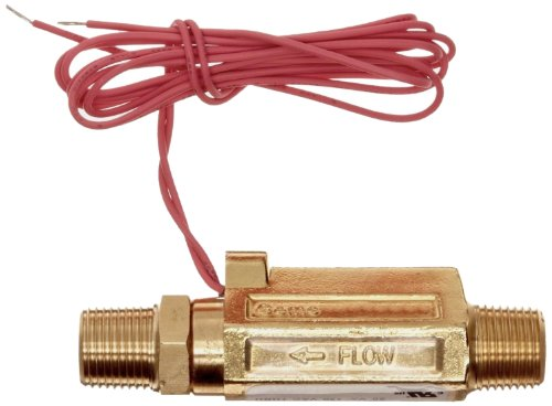 Gems Sensors FS-380 Series Brass High Pressure Flow Switch, Inline, Piston Type, 0.5 gpm Flow Setting, 1/2'' NPT Male by Gems Sensors (Image #2)