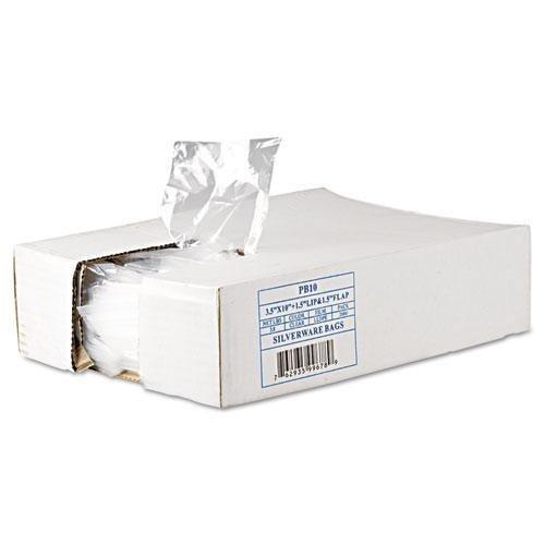 Inteplast PB10 GET Reddi Silverware Bags, 3 1/2 X 10 X 1 1/2, .7MIL, Clear, 2000/CARTON