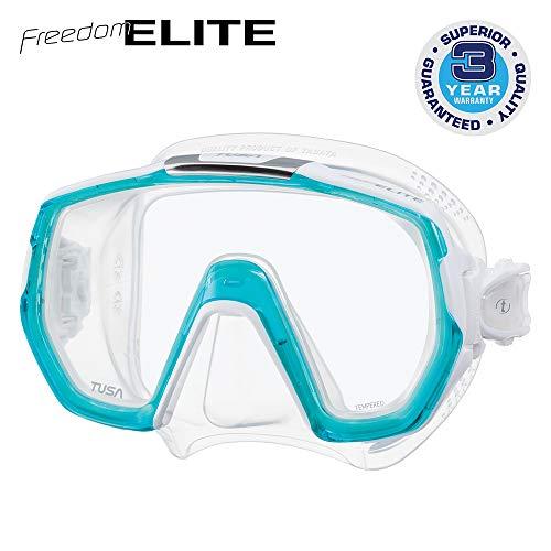 TUSA M-1003 Freedom Elite Scuba Diving Mask, Light Blue