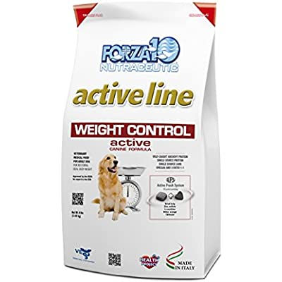 Forza10 Active Weight Control Diet Dry Dog Food, Fish Flavor, for Heavy Overweight Dogs Weight Management, All Breeds Dog Food, 8 Pound Bag