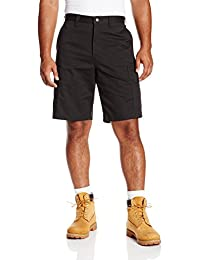 "Dickies Occupational Workwear LR337BK 30 Cotton Relaxed Fit Men's Industrial Cargo Short with Metal Tack Closure, 30"" Waist Size, 11"" Inseam, Black"