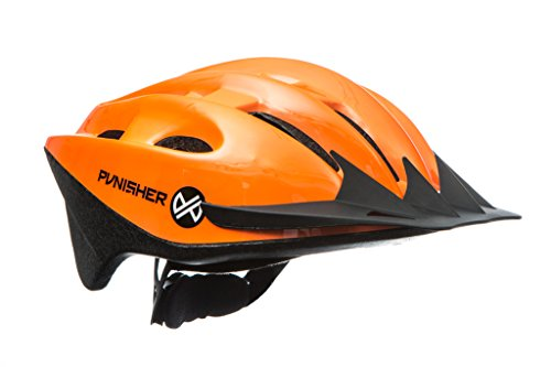 Punisher Skateboards Punisher 18-Vent Adult Cycling Helmet with Abs Shell, Bright Orange