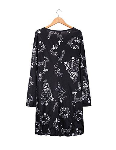 Navidad de Negro las Ruiyige elegante mujeres del de vestido vestido de Mini del oscilación la vestido fiesta 7wYCPAwq