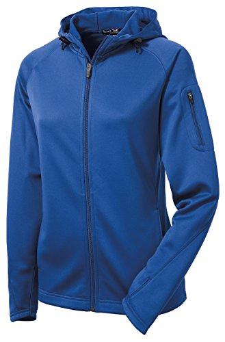 Sport-Tek Ladies Tech Fleece Full-Zip Hooded Jacket, S, True Royal