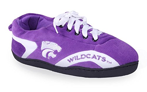 Kansas Wildcats Slippers NCAA Womens Happy College Around Feet and State All Mens wC7Paz7q