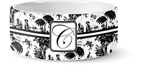 (RNK Shops Toile Ceramic Pet Bowl - Large (Personalized))