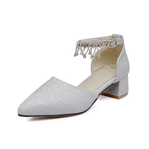 AdeeSu Womens Studded Waterproof Dress Urethane Sandals SLC03887 Silver