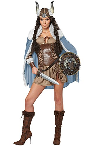 California Costumes Women's Viking Vixen Sexy Warrior Costume, Brown, X-Large
