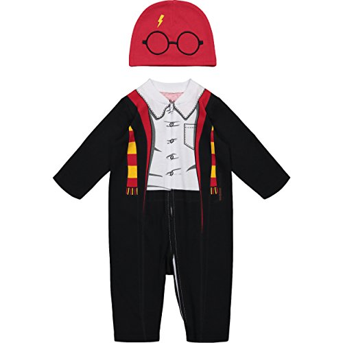 Dobby Baby Costume (Harry Potter Newborn Baby Boys' Zip-Up Costume Coverall & Hat Set 6-9)