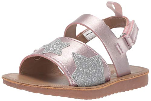 OshKosh B'Gosh Peyton Girl's Star-Accented Summer Sandal, Light Pink, 10 M US Toddler