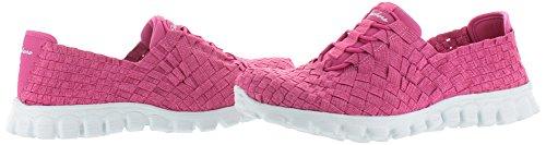 Skechers deporte fácil Flex 2 pedestal zapatilla de deporte de moda Fuschia