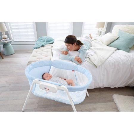 Travel Bassinet,Baby Activities, Playards,Portable Flat Bassinet, Comfortable Sleeping Surface, Baby Furniture, Compact, Multifunctional,Removable Legs, Travel Bag Included,BONUS e-book