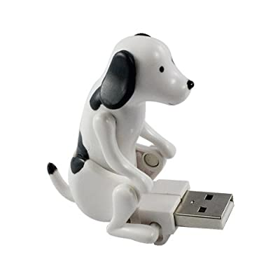 Vktech USB Hump Dog Funny Humping Spot Dog Christmas Toy Gift (White)