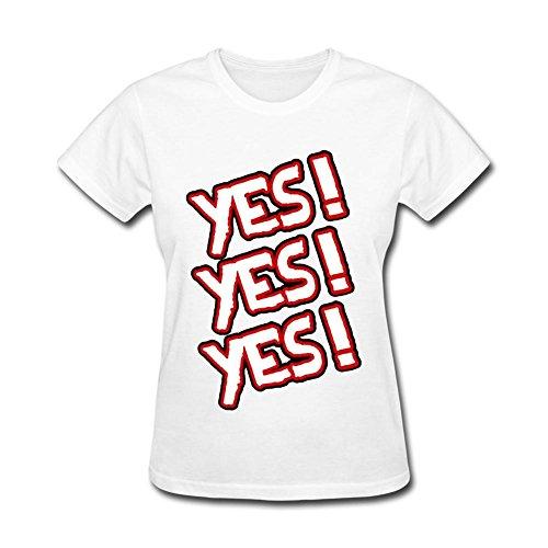 LSLEEVE Women's Daniel Bryan Yes Yes Yes T-shirt White L (Daniel Bryan Yes Yes Yes T Shirt)