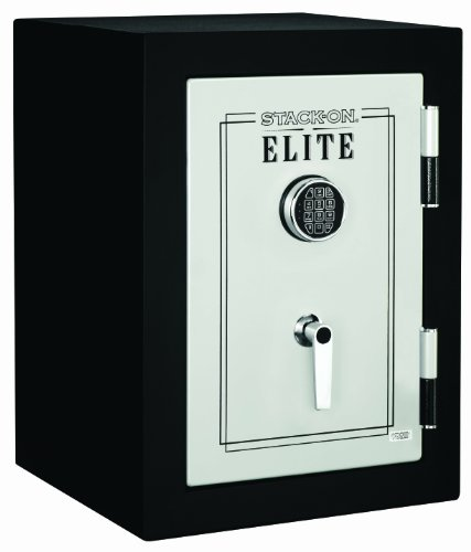 Stack-On E-029-SB-E Executive Fire Safe with Electronic Lock, Matte Black/Silver