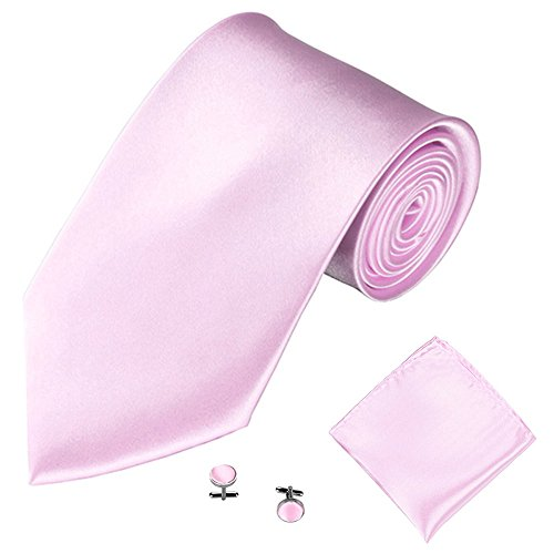- Clearence Tie 3PCS Classic Men Party Tie Necktie Pocket Square Handkerchief Cuff Link