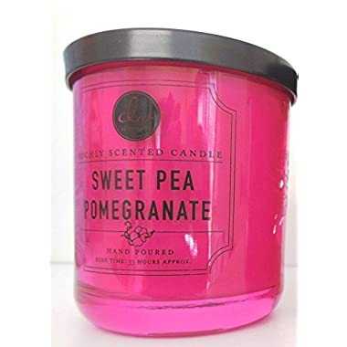 Dw Richly Scented Candle Sweet Pea Pomegranate 2 Wick