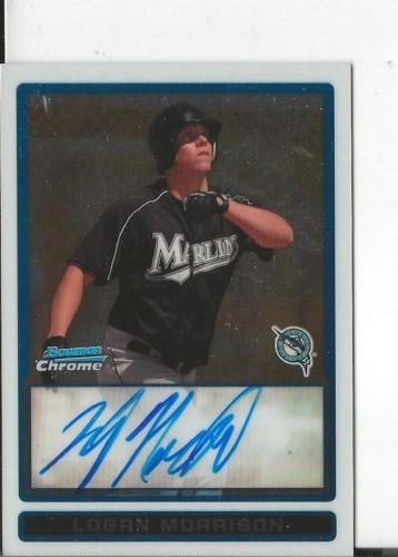 Logan Morrison 2009 Bowman Chrome Autograph RC #BCP112 Marlins (City Of Logan)