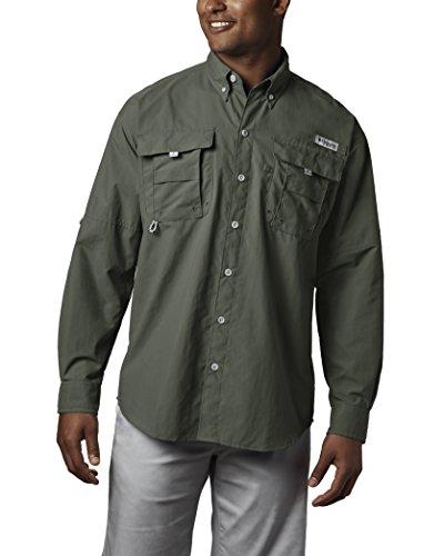 Columbia Men's Bahama II Long Sleeve Shirt, Cypress, XX-Large