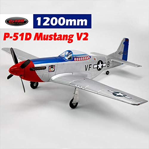 DYNAM RC Airplane P-51 Mustang V2 Fred Glover 1200mm Wingspan - BNP