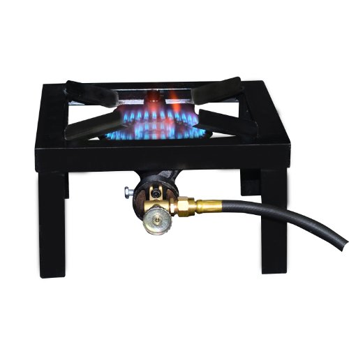 Basecamp Single Burner Angle Iron Camping Stove, Black