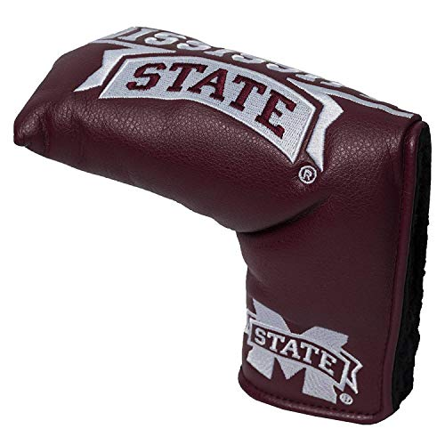 Team Golf NCAA Mississippi State Bulldogs Golf Club Vintage Blade Putter Headcover, Form Fitting Design, Fits Scotty Cameron, Taylormade, Odyssey, Titleist, Ping, Callaway