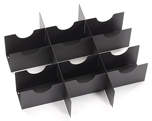 (Black Box 4U Rackmount Media Storage Drawer Media Partition 101 CDs/DVDs)