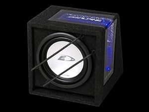 """Alpine SBE-843BR - Subwoofer con caja Bass Reflex para coche (8"""", 400 W, Peak Power, ventana acrílica con iluminación azul)"""