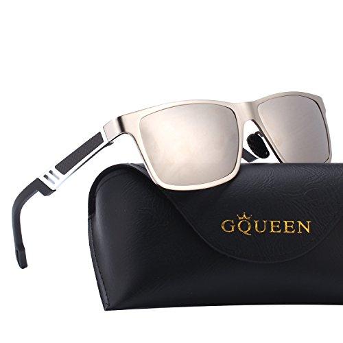 MS0 GQUEEN polarisées 1 de Al Mg Frame Argenté Argenté Protection Retro soleil lunettes Hommes UV400 Zr7nqZcWP