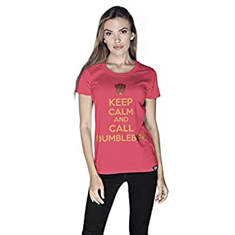 Creo Keep Calm Super Hero T-Shirt For Women - M, Pink