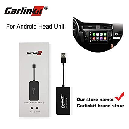 Carlinkit Wireless Carplay Dongle Android Auto carplay Receiver for  aftermaket Android Head Unit Upgrade Plug and Play Support ios13 Split  Screen/do