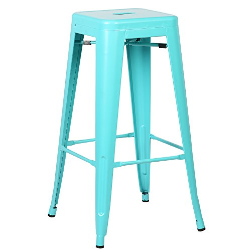 Poly and Bark Trattoria bar Stool in Aqua