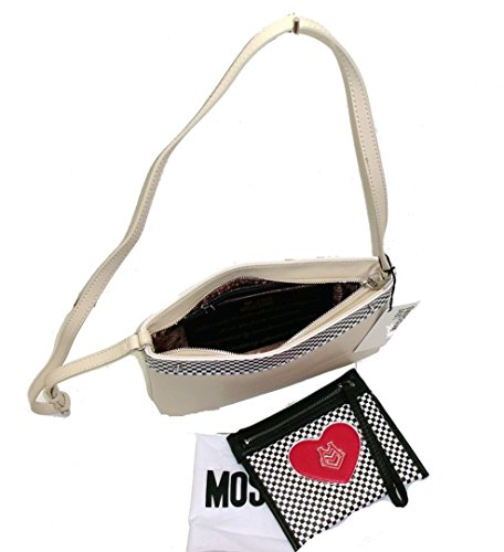 Borsa Love Moschino JC4075 woman handbag CLUTCH BAG TRACOLLA CALF PU AVORIO