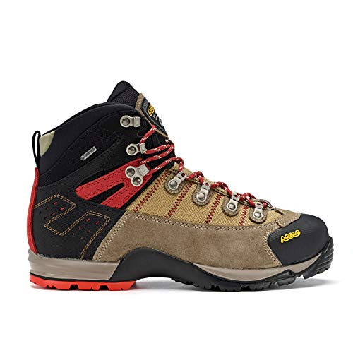 Boot Backpacking Mid Gtx (Asolo Men's Fugitive GTX Hiking Boots, Wool / Black, 12 D(M) US)