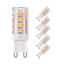 Sunix G9 LED Bulbs, 5W (50W Halogen Equivalent), AC120 Volt, 380LM, Warm White (3000K), Not Dimmable, 360¡ã Beam Angle LED Light Bulbs for Home Lighting
