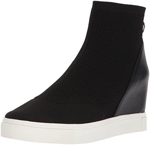 Steve Madden Women's Lizzy Sneaker, Black, 6.5 M US