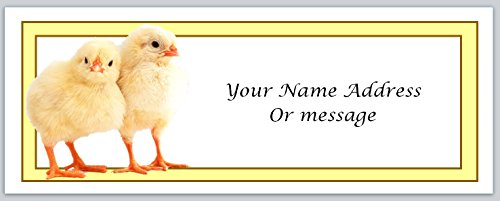 Chicken Labels Address (120 Personalized Address Labels Primitive Country Chickens (c 76))