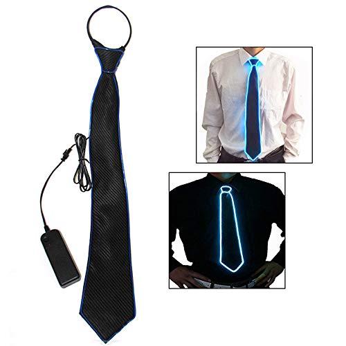 Corbata luminosa led ajustable con 3 modos de flash para fiestas.