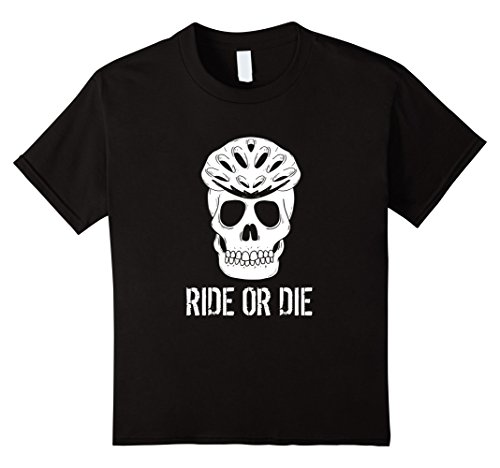Kids Biker Halloween Costumes (Kids Scary Bikers Skull Halloween Costume Tee Shirt, Gift Tshirt 10 Black)