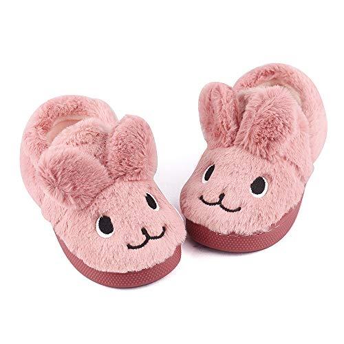 MK MATT KEELY Toddler Girls Boys Slippers Cartoon Cute Animals Plush Warm Home Shoes