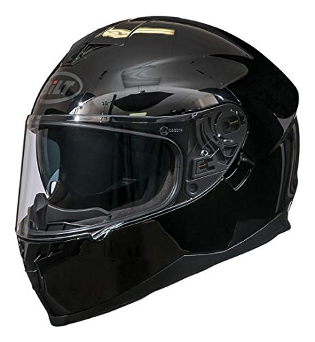 Bilt Force Drop Down Sun Shield Vented Air Flow DOT Sport Touring Street Bike Motorcycle Full Face Helmet - Black 2XL