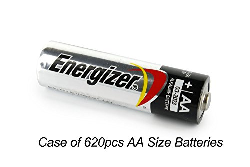 Case of 620 pcs AA Energizer Alkaline Battery E91 by Energizer